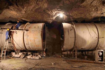 隧洞内压力钢管对接施工