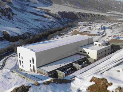 哈萨克斯坦玛依纳水电站厂区鸟瞰图
