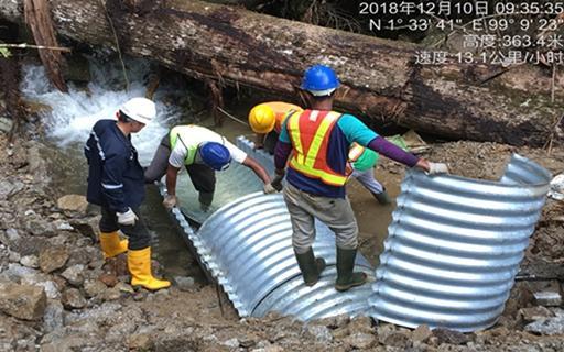 埋设排水管道